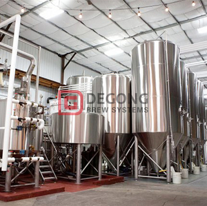 2000L professional industrial automated steel beer brewing equipment for sale