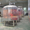2000L Red Copper 3 Vessels Steam Heated Automatically Beer Brewery Brewing Equipment in Sweden