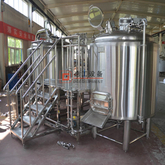 1000L Microbrewery Beer Brewing Equipment Combined 2 Vessels Brewhouse with Steam Or Electric Heating