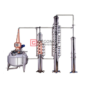 800L red copper gin still distillation equipment column customized for sale