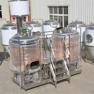 500L Customized Red Copper Turnkey Microbrewery Equipment for Sale