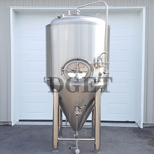 5BBL Commercial Stainless Steel Dimple Jacket Beer Fermentation Tank / Cylindrical Conical Tank