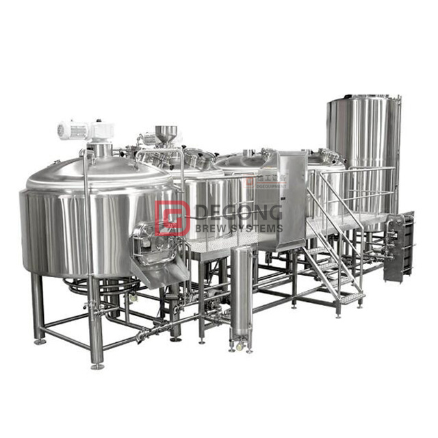 1500L Stainless Steel Beer Craft Brewery System 2/3/4 Vessel Brewhouse Equipment plant