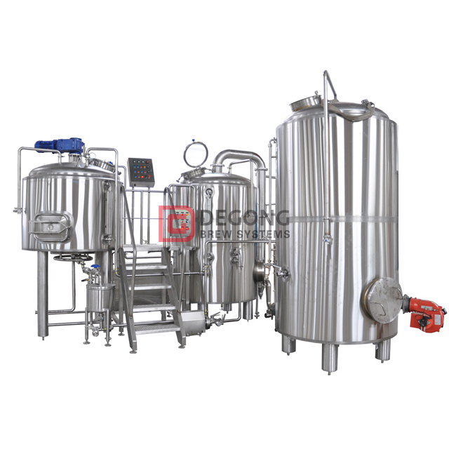 1500L 15BBL craft brewery equipment manufacturing system steam heating beer brewing project for sale