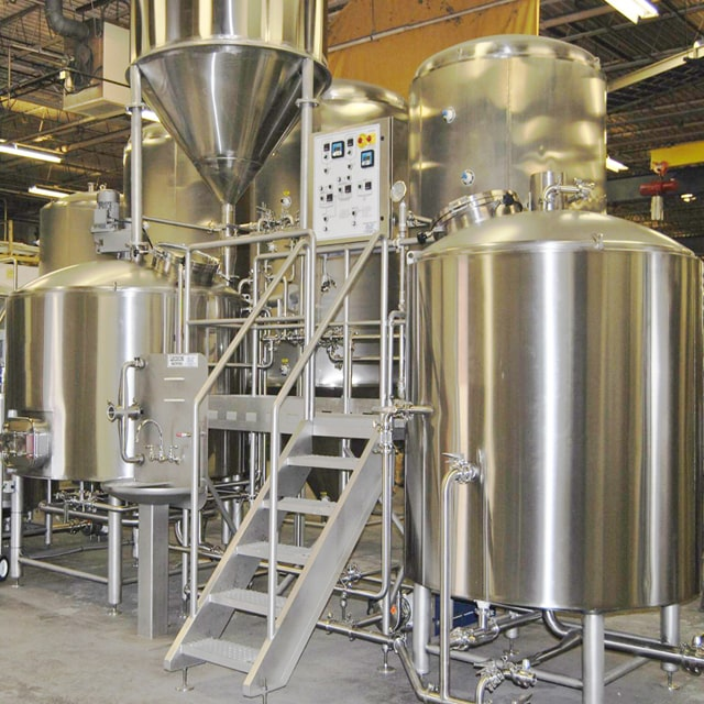 1000L Stainless Steel Fermentation Beer Brewery Equipment 3 Vessels Steam Heating Beer Brewhouse