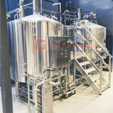 2000L European Standard Large Professional Brewing Equipment Combined Steam Heated Brewhouse With Siemens ABB Motor for Sale