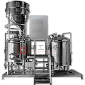 CE ISO TUV 2000L Large Scale Brewing System Stainless Steel Tank Steam Heating Brewhouse System for Sale