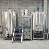 High Quality SUS304 Complete 500L Semi Auto Craft Beer Brewery Equipment System Export To Europe