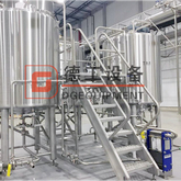 2000L Industrial Used Turnkey 2/3/4 Vessels Steam Heated Brewhouse Brewing System Provided by Chinese Best Manufacturer