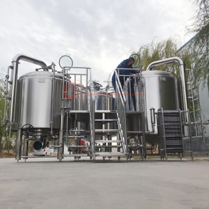 1000L Popular Restaurant/brewpub Used Superior Quality Steam Heated Beer Brewery Combined 3-vessel Brewhouse