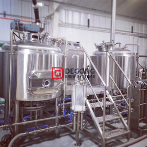 1000L Double Insulated Steam Heating Turnkey Gravity Beer Brewing Equipment Complete Brewery Plant