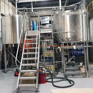 CIP Cleaning System 2-vessel Or 3-vessel 1000L Beer Brewing Machine SUS304/316 Fermentation Tank for Sale