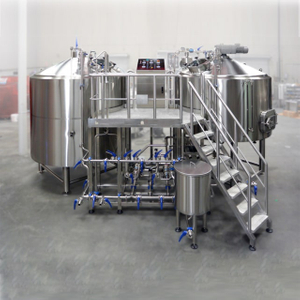600L/5BBL beer brewery equipment used 2 Vessels electric Brewhouse and stainless steel 304 isobaric fermentation tank