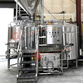 Buy 3BBL 500L Craft Beer Brewing System with Steam Heating 2-vessel Dimple Jacket Beer Fermentation Tank for Sale