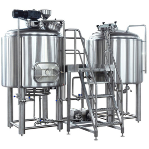 10BBL Beer Brewery Equipment Steam Fired Brewery Stainless Steel Brewhouse High Reputation South America