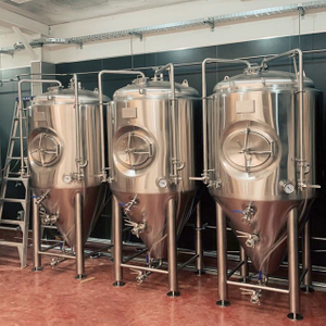2000L Commercial Brewery Used Beer Brewing Equipment-double Wall Stainless Steel Conical Fermentation Tank with 60° Cone