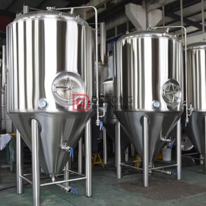 Cylindrical Conical Tank Stainless Steel 2000L fermentation tank Brewery Equipment Double Jacket Popularity in Europe