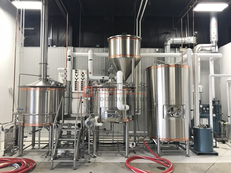 combined steam heated beer brewhouse