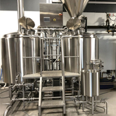 10 BBL craft beer machinery double wall fermentation tanks brewery equipment for restaurant