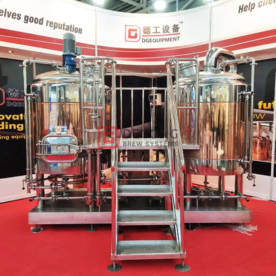 10HL Customizable Automatic Best Beer Brewing Equipment Supplies Complete Copper Brewing System for Brewpub Restaurant