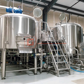 2000L Commercial Beer Brewing Equipment 3-vessel with Steam Heating Customized Sus304/316 Beer Fermentation Tank for Sale